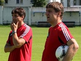 Josef Mucha (vpravo) byl v roce 2013 asistentem Martina Kotůlka v Sigmě...