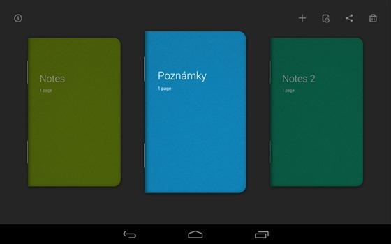 Poznámkové bloky vytvořené v aplikaci Bamboo Paper mají exklusivní design