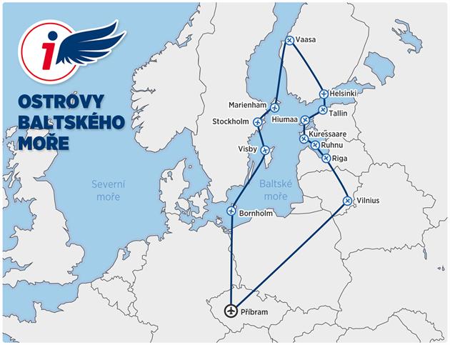 MAPA: Nebe nad Evropou III - Ostrovy Baltského moře