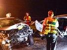 Nehoda dvou osobních automobilů na silnici R10 u Mladé Boleslavy směrem na...