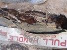 Trosky spadlého alžírského letadla (27. července 2014).