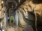 Izraelský voják v palestinském tunelu (25. července 2014).