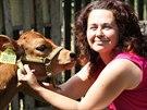 Lucie Čápová se svými zvířaty na malé farmě v Mořicích na Příbramsku