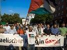 Za Palestince se protestovalo tak� v Berl�n�.