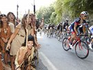 Momentka ze 16. etapy Tour de France