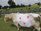 Momentka z 18. etapy Tour de France