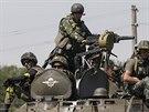 Proruští radikálové vytlačení z měst obsazených vojskem se soustřeďují ve...