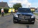 Z�b�r z vy�et�ov�n� tragick� nehody v Krnov�. V�z Mercedes proj�d�l po hlavn�...