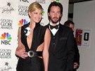 Charlize Theronová a Keanu Reeves (2007)