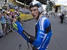 POSKOČIL NA 7. MÍSTO. Leopold König v cíli časovky na Tour de France.