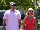 Britney Spears s přítelem Davidem Lucadem (červenec 2014)