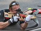 Ond�ej Moravec p�i letn�m soust�ed�n� biatlonov� reprezentace v Letohradu.
