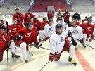 Hokejisté Olomouce na tréninku