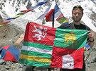 """Jan """"Tráva"""" Trávníček v základním táboře pod K2, druhou nejvyšší horou světa."""