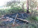 V polovině června hasiči vyjížděli k požáru posedu u obce Střeň.