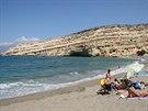 Jedna z nejslavnějších pláží v celém Řecku – Matala na Krétě