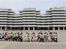 Severní Korea, Wonsan. Děti, které tady navštěvují letní kemp.