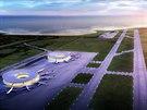 Severní Korea, Wonsan - vizualizace plánovaného letiště