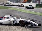 Brazilský pilot Felipe Massa s Williamsem skončil už v první zatáčce Velké ceny