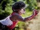 Tanečník Maurice Yeka z Konga byl hostem festivalu ve Dvoře Králové nazvaném...