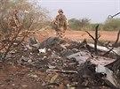 Trosky letounu Air Algerie, které se zřítilo v Mali(25. července 2014)