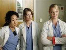Sandra Oh, Ellen Pompeo a Katherine Heiglov� v seri�lu Chirurgov� (2005)