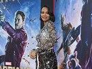 T�hotn� Zoe Saldana na premi��e filmu Str�ci Galaxie (Los Angeles, 21....