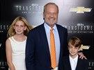 Kelsey Grammer, jeho dcera  Mason a syn Jude (New York , 25. června 2014)
