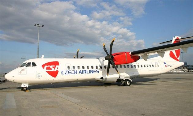 Turbovrtulové letadlo ATR 72.