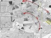 Satelitní snímek z 21. července 2014 ukazuje podle amerického ministerstva...