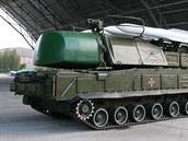 Odpalovací vozidlo systému Buk-M1 ukrajinské armády
