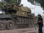 Přeprava systému Buk-M1 ukrajinské armády