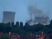 Řízený odstřel elektrárny v Británii