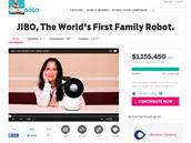 Crowdsourcingov� kampa� na Indiegogo je pro Jibo velmi �sp�n�. Stotis�cov� c�l...