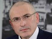 Bývalý majitel Jukosu Michail Chodorkovskij. Snímek je z tiskové konference v...