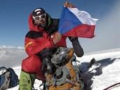 Radek Jaro� na vrcholu K2