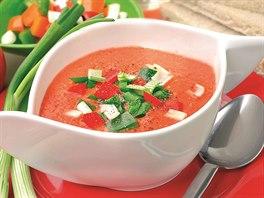 Gazpacho - španělská polévka podávaná za studena.