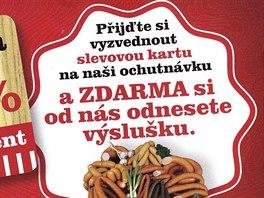 Tímto kupónem a ještě podrobnější pozvánkou zvali prodejci na speciality nového řeznictví v Jaroměři. Byl to však podvod.