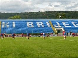 Fotbalist� Mlad� Boleslavi na p�edz�pasov�m tr�ninku v �irok�m Brijegu, kde je...