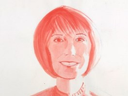 Alex Katz: Study for Mary Tyler Moore (2000)