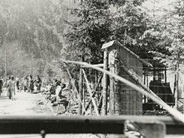Koncentrační tábor v rakouském Ebensee