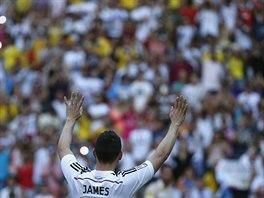 James Rodr�guez m�v� fanou�k�m Realu Madrid.
