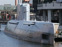 Ponorka Wilhelm Bauer v přístavu Bremerhaven