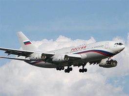 Ruský prezidentský letoun Iljušin IL-96.