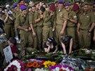 Pohřeb izraelského vojáka v Haifě (29. července 2014)