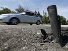 Stopy dělostřelby v Doněcké oblasti (30. července 2014)