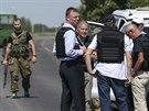 Pozorovatelé OBSE se čtyři dny marně pokoušeli dostat na místo pádu...