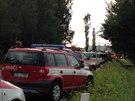 V autobuse cestovalo podle informace policie a hasičů 34 lidí cizí státní...