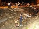 Nejméně 15 mrtvých a na 200 zraněných si podle AP vyžádal mnohonásobný výbuch...