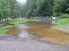Hasi�i museli na Prachaticku evakuovat t�i skautsk� t�bory (31. �ervence 2014)